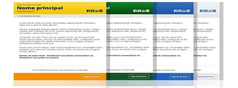 Conheça os templates para informativos da Identidade Padrão