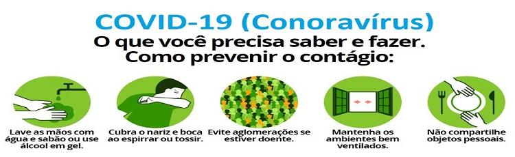 Orientações da reitoria com relação ao coronavírus