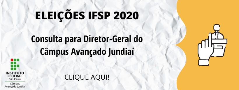 Eleições IFSP 2020